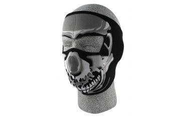 97a06674605 Zan Headgear Neoprene Face Mask Chrome Skull WNFM023