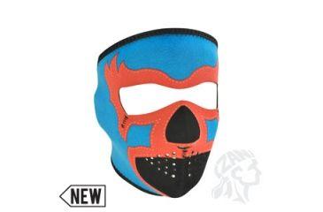 Zan Headgear Neoprene Face Mask, Lucha Libre, Blue WNFM073