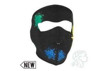 Zan Headgear Neoprene Face Mask, Splatter, Glow in the Dark WNFM080G