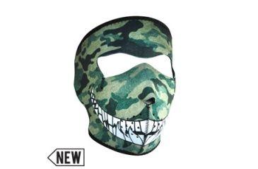 Zan Headgear Neoprene Face Mask, Woodland Camo w/ Teeth WNFM072