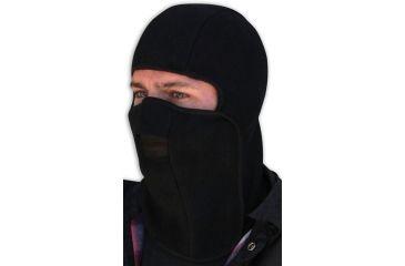 Zan Headgear Balaclava Velcro Closure Black Fleece WB114V