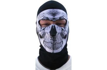 Zan Headgear Coolmax Balaclava Extreme B&W Skull WBC002NFME