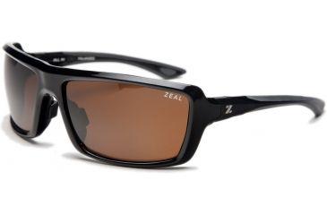e8052cc2a02f Zeal Optics All In Sunglasses, Black Gloss Frame and Polarized Copper Lens  10029