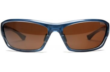 Zeal Optics Boundary Sunglasses, Clear Blue Gloss Frame and Polarized Copper Lens 10034