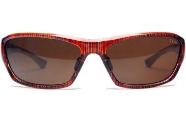 Zeal Optics Boundary Sunglasses, Clear Rust Wood Grain Frame and Polarized Copper Lens 10035