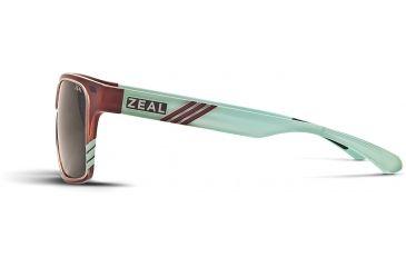 Zeal Optics Brewer Mens Sunglasses, Carmel Turquoise Gloss Frame and Polarized Dark Grey Lens 10414