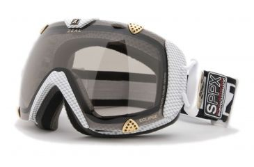 Zeal Optics Classic Eclipse Ski Goggles, Carbon Matte White Frame and Polarized Automatic Optimum Lens ES2SPPW