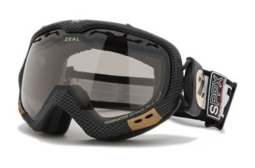 Zeal Optics Dominator Ski Goggles, Carbon Matte Black Frame and Polarized Automatic Optimum Lens DM4SPP
