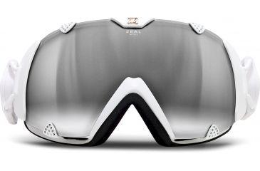 Zeal Optics Eclipse Ski Goggles, Digital White Frame and Polarized Automatic Optimum Lens 10291