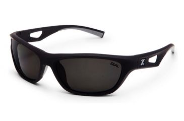 Zeal Optics Emerge Polarized Sunglasses - Black Frame with Dark Grey Lens by Zeal Optics Pedi59e