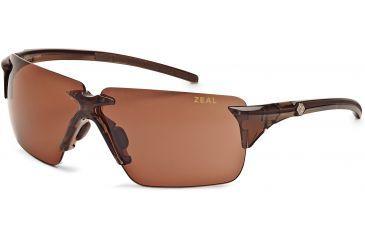 Zeal Optics EOS Sunglasses, Espresso Gloss Frame and Non-Polarized Copper Lens 10080