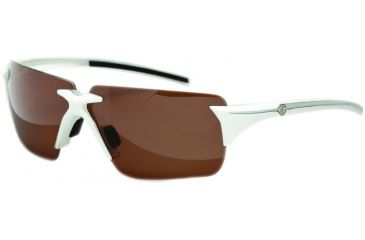 Zeal Optics EOS Sunglasses, White Gloss Frame and Non-Polarized Copper Lens 10078