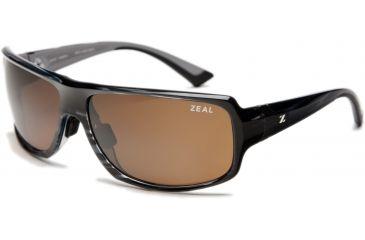 Zeal Optics Epic Sunglasses, Black + Blue Wood Grain Frame and Polarized Copper Lens 10071