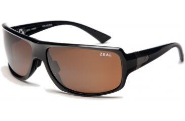 Zeal Optics Epic Sunglasses, Black Gloss Frame and Polarized Copper Lens 10068