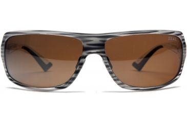 Zeal Optics Epic Sunglasses, Monochrome Wood Grain Frame and Polarized Copper Lens 10069