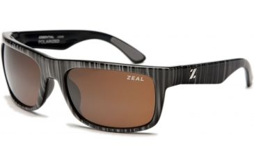 Zeal Optics Essential Mens Sunglasses, Black Wood Grain Frame and Polarized Copper Lens 10006
