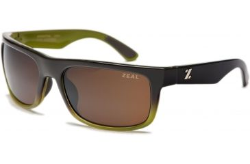 Zeal Optics Essential Mens Sunglasses, Brown + Olive Fade Frame and Polarized Copper Lens 10004