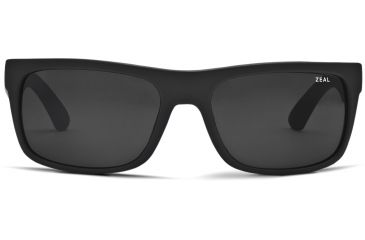 Zeal Optics Essential Mens Sunglasses, Matte Black Frame and Polarized Dark Grey Lens 10394