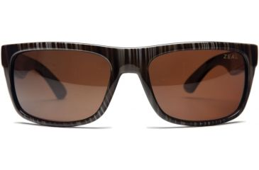 Zeal Optics Essential Mens Sunglasses, Wood Grain Frame and Polarized Copper Lens 10003