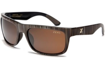 Zeal Optics Essential Mens Sunglasses, Wood Grain Frame and Polarized Copper Lens 10003