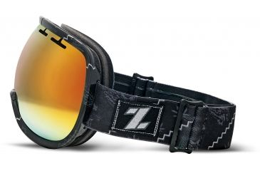 Zeal Optics Level Ski Goggles, Henley Black Frame and Bluebird Mirror Optimum Lens 10272