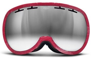 Zeal Optics Level Ski Goggles, MADE Red Wash Frame and Bluebird Mirror Optimum Lens 10271
