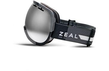 Zeal Optics Level Ski Goggles, Supply Black Frame and Metal Mirror Optimum Lens 10266