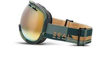 Zeal Optics Level Ski Goggles, Supply Olive Frame and Alchemy Mirror Optimum Lens 10268