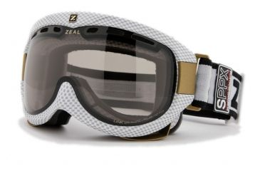 Zeal Optics Link Classic Ski Goggles, Carbon Matte White Frame and Polarized Automatic Optimum Lens LK4SPPW