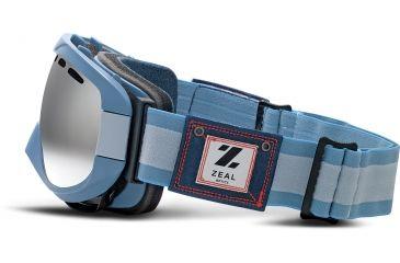 Zeal Optics Link Ski Goggles, Riveted Denim Frame and Metal Mirror Optimum Lens 10252