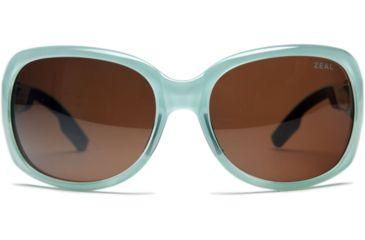 Zeal Optics Penny Lane Womens Sunglasses, Aqua Green Gloss Frame and Polarized Copper Lens 10015