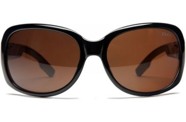 Zeal Optics Penny Lane Womens Sunglasses, Black Gloss Frame and Polarized Copper Lens 10011