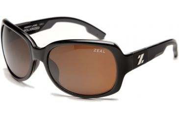 Zeal Optics Penny Lane Womens Sunglasses, Black Gloss Frame and Polarized Copper Lens 10011