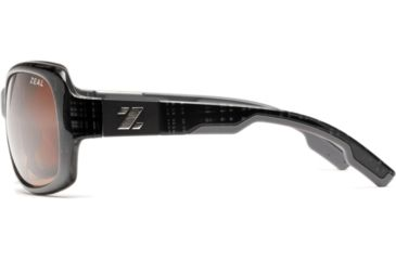 Zeal Optics Penny Lane Womens Sunglasses, Black Plaid Frame and Polarized Copper Lens 10016