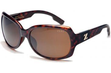 Zeal Optics Penny Lane Womens Sunglasses, Demi Tortoise Frame and Polarized Copper Lens 10017
