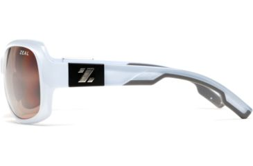Zeal Optics Penny Lane Womens Sunglasses, Sky Blue Gloss Frame and Polarized Copper Lens 10014