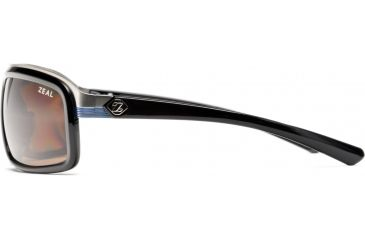 Zeal Optics Re-Entry Sunglasses, Black Gloss Frame and Polarized Copper Lens 10073