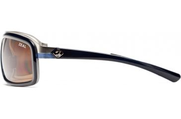 Zeal Optics Re-Entry Sunglasses, Dark Blue + White Gloss Frame and Polarized Copper Lens 10075