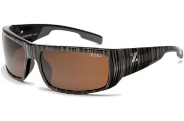 Zeal Optics Snapshot Sunglasses, Black Wood Grain Frame and Non-Polarized Copper Lens 10022