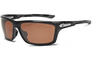 Zeal Optics Takeoff Sunglasses, Black Gloss Frame and Polarized Copper Lens 10043