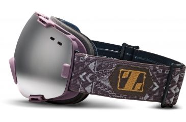 Zeal Optics Voyager Ski Goggles, Heather Purple Frame and Metal Mirror and Light Ruby Optimum Lens 10276