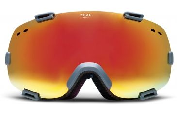 Zeal Optics Voyager Ski Goggles, Quetico Blue Ox Frame and Phoenix Mirror and SkyLight Blue Optimum Lens 10288