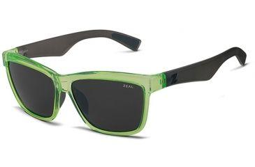Zeal Optics Zeal Optics Kennedy Sunglasses Atomic Green Frame, Dark Grey Lenses, Polarized 10653