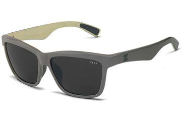 Zeal Optics Zeal Optics Kennedy Sunglasses English Grey Frame, Dark Grey Lenses, Polarized 10650