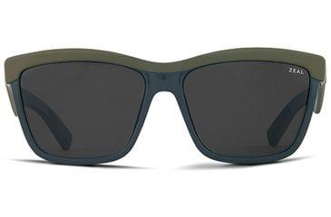 Zeal Optics Zeal Optics Kennedy Sunglasses Matte Fatigue Frame, Dark Grey Lenses, Polarized 10649