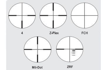 Available Reticles for Zeiss 3.5-10x44 Conquest Rifle Scopes Matte Black