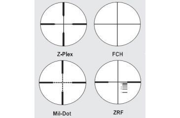 Available Reticles for Zeiss 4.5-14x44 Conquest Target Rifle Scopes Matte Black
