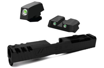 3-ZEV Technologies Z19 Spartan Black 3rd Gen Stripped Slide with RMR Cover Plate