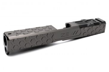 2-ZEV Technologies Z17 Hex Black 3rd Gen Stripped Slide with RMR Cover Plate