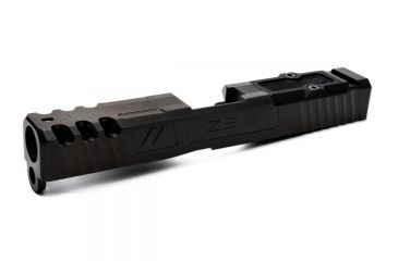 4-ZEV Technologies Z19 Spartan Black 3rd Gen Stripped Slide with RMR Cover Plate